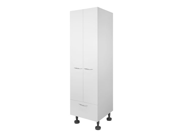 2 Door, 1 Drawer Tall Wardrobe Cabinet