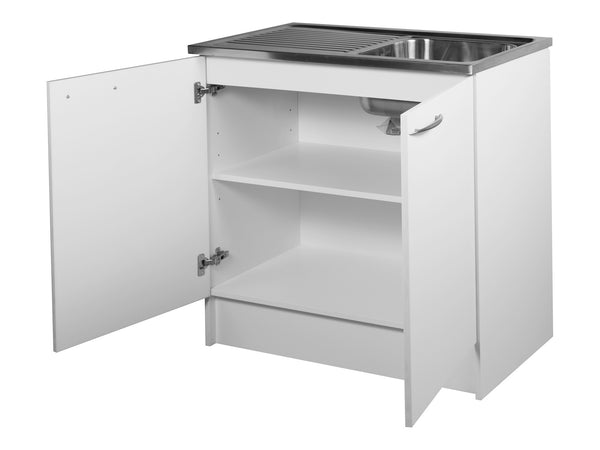 2 Door, 900mm Kitchenette with Stainless Steel Top