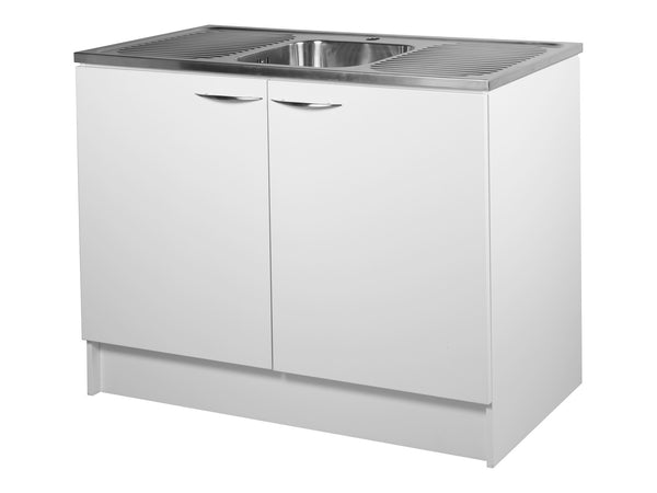 2 Door, 1200mm Kitchenette with Stainless Steel Top