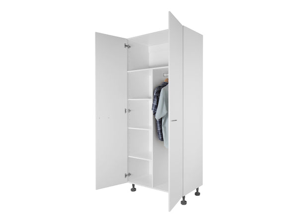 2 door tall wardrobe cabinet with shelves - Wardrobe Cabinet