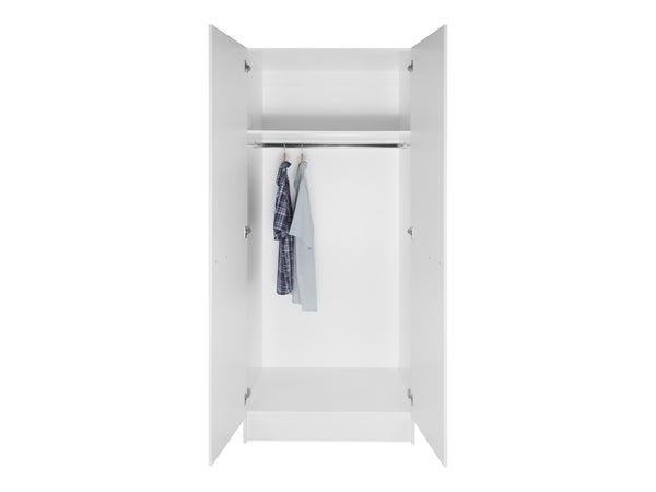2 Door Tall Wardrobe Cabinet
