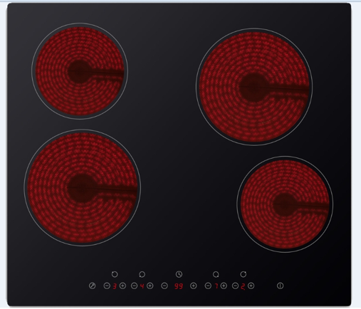 Midea 60cm 4 Element Ceramic Cooktop