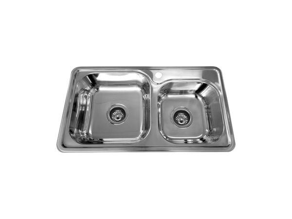 CETO Double Sink without Drainer