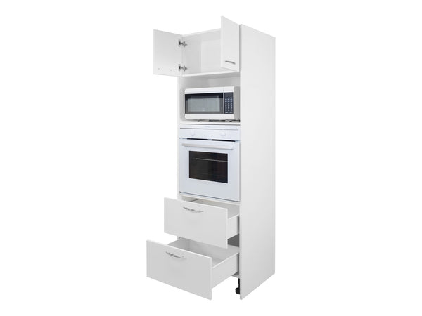 2 Door Tall Oven Microwave Tower