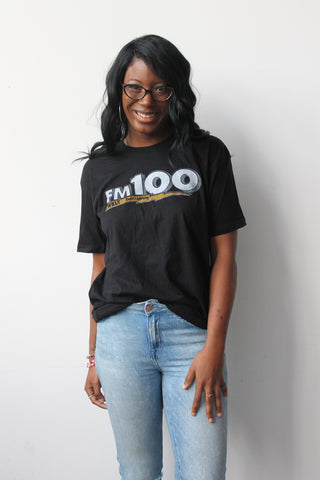 SALE - FM100 Unisex Throwback Tee
