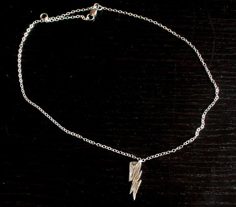 Lightning 100 White Copper Lightning Bolt Necklace