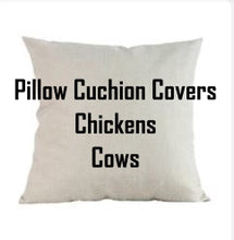 Load image into Gallery viewer, Pillow Cushion Covers Chickens & Cows