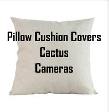 Load image into Gallery viewer, Pillow Cushion Covers Cactus & Cameras