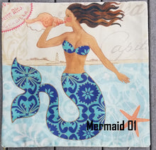 Load image into Gallery viewer, Pillow Cushion Covers Mermaids & Sea Life