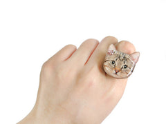 Cute Cat Kitten Ring