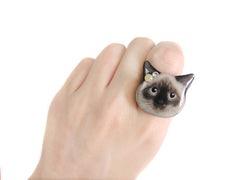Cute Birman Shorthair Cat Kitten Ring