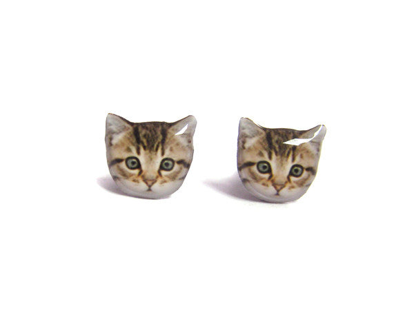 Home Little Cat Kitten Stud Earrings