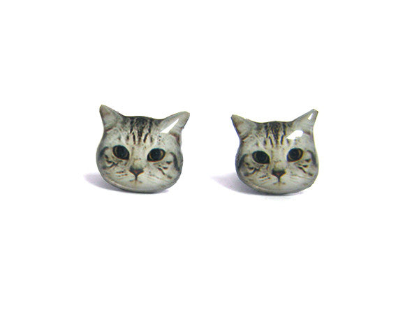Cute Shorthair Cat Kitten Stud Earrings