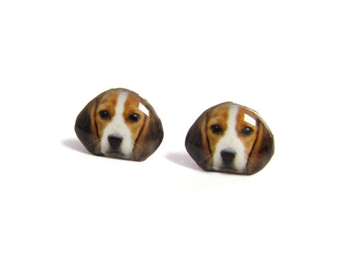 Beagle Dog Stud Earrings