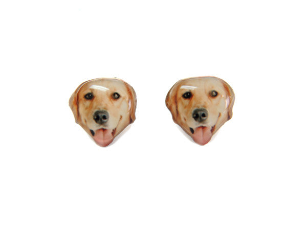 Golden Retriever Dog Stud Earrings
