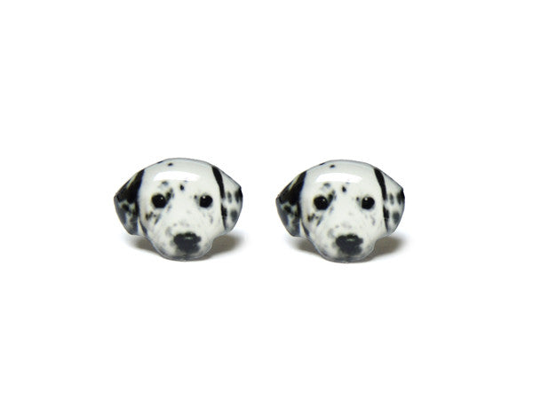 Dalmatians Dog Stud Earrings