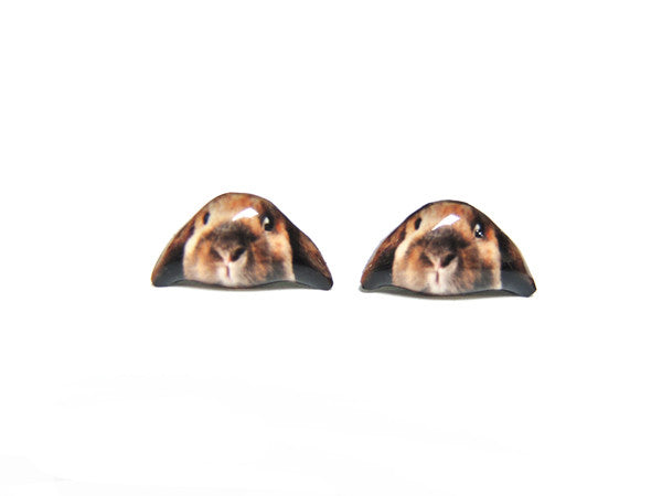 Little Brown Rabbit Stud Earrings