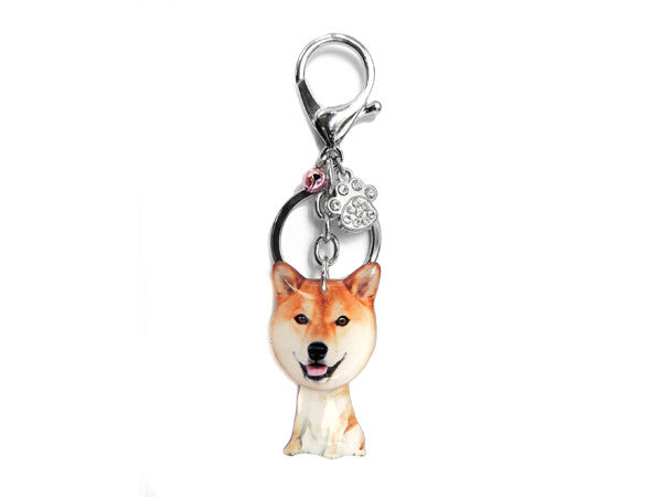シバイヌ Japanese Shiba Inu Dog Shaking Head Keychain / Bag Charm