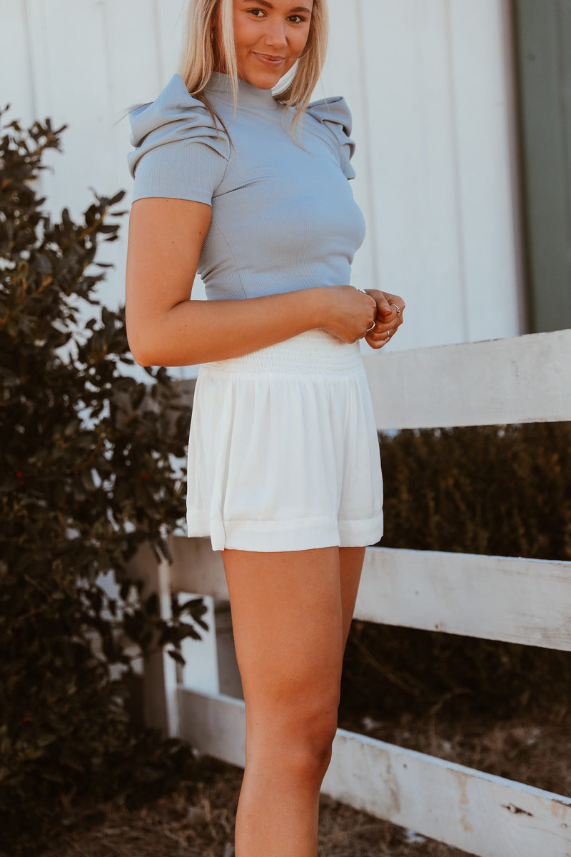 Sally Shorts - White