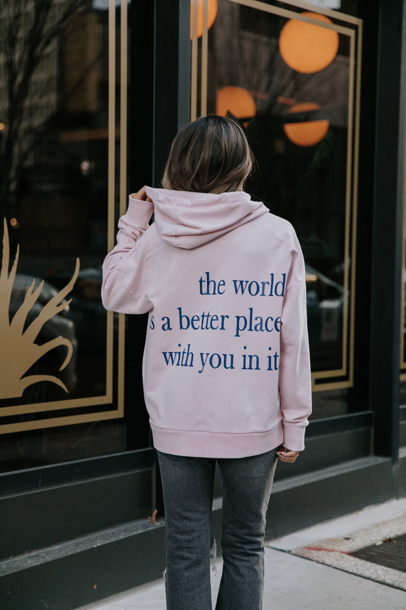 Heart You Zip Hoodie - Pink
