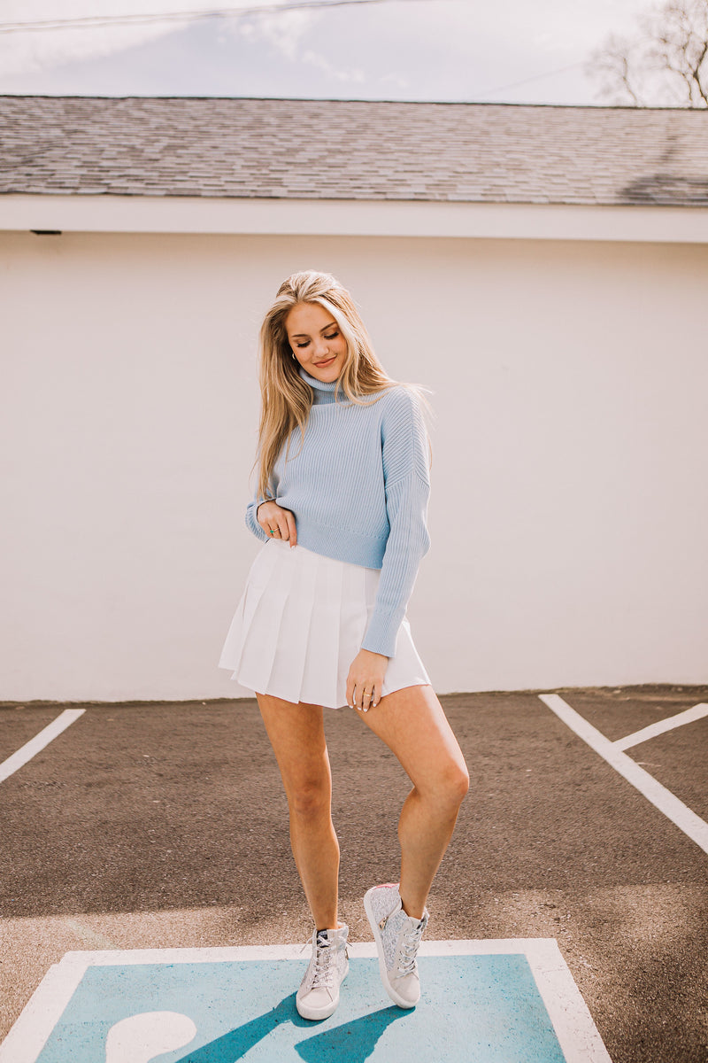 Turtleneck Sweater - Baby Blue