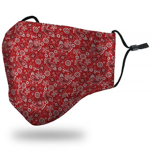 """Bandana"" Red Face Mask"