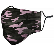 "Load image into Gallery viewer, ""Camo"" Pink Face Mask"