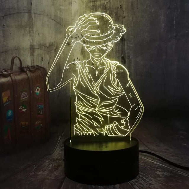 One Piece Monkey D. Luffy 3D LED Illusion Night Light