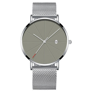 Modern Minimalist Watch (Silver & Grey)