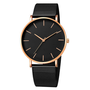 Soul Minimalist Watch (Black & Rose Gold)