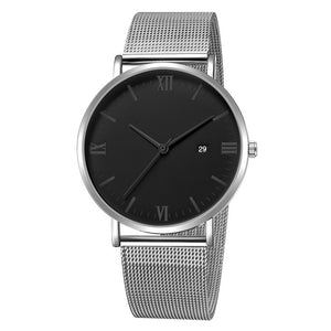 Roman Minimalist Watch (Silver & Black)