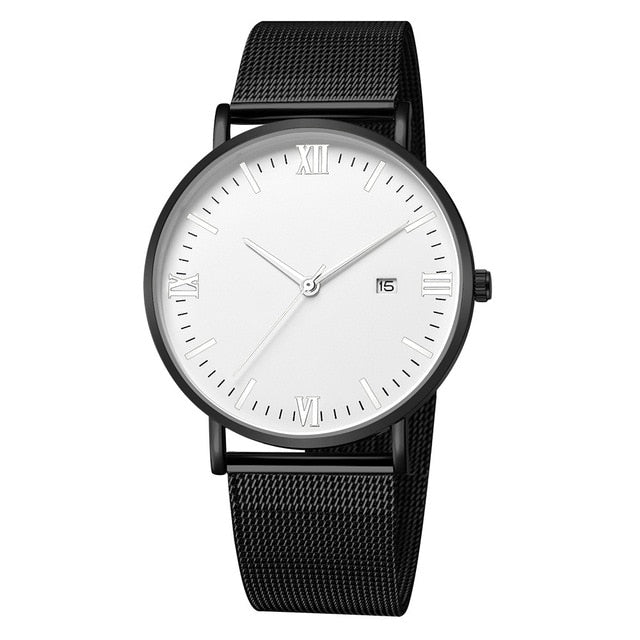 Roman Minimalist Watch (Black & White)