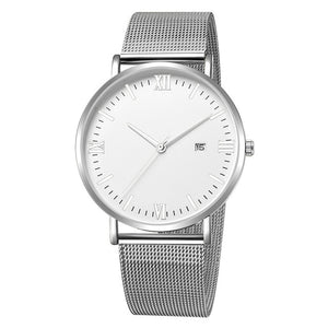 Roman Minimalist Watch (Silver & White)