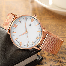 Load image into Gallery viewer, Roman Minimalist Watch (Rose Gold & White)