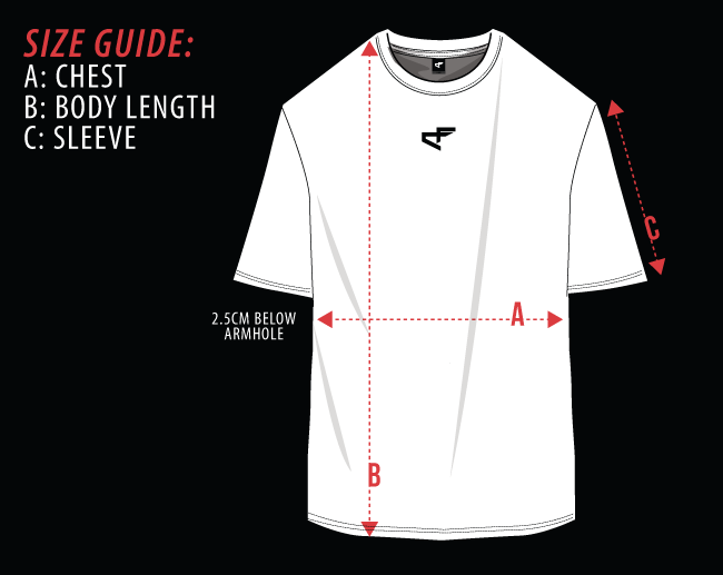 Chosen Few Size Guide