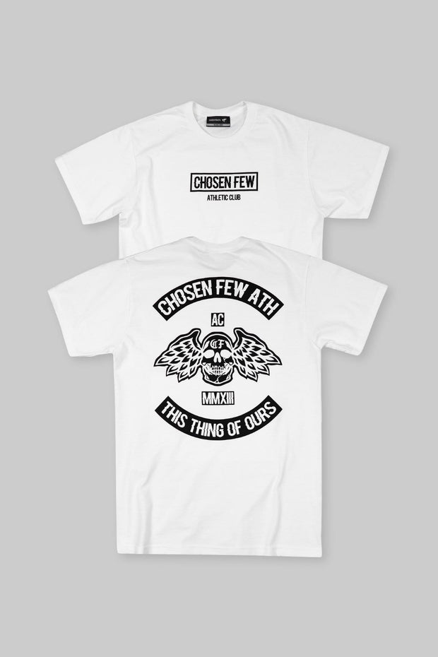 Athletic Club Tee White & Black