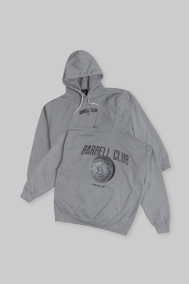 Retro Barbell Club Hoodie Gunmetal Grey