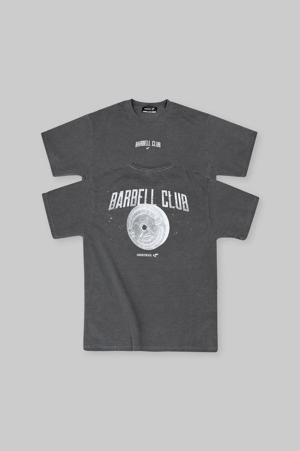 Retro Barbell Club Tee Charcoal