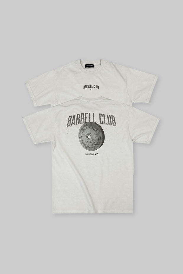 Retro Barbell Club Tee Off-White