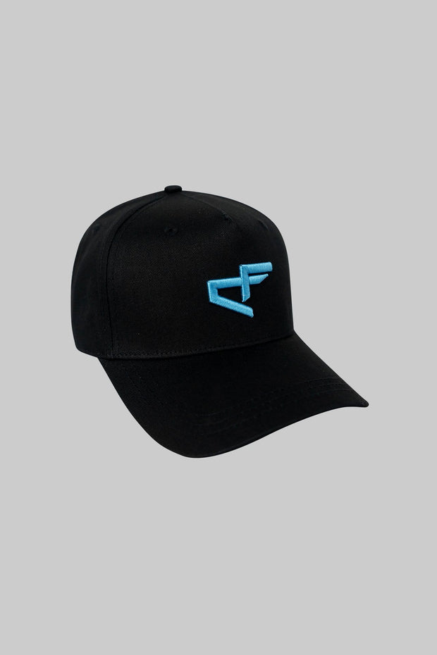 Logo Cap Black with Neon Blue