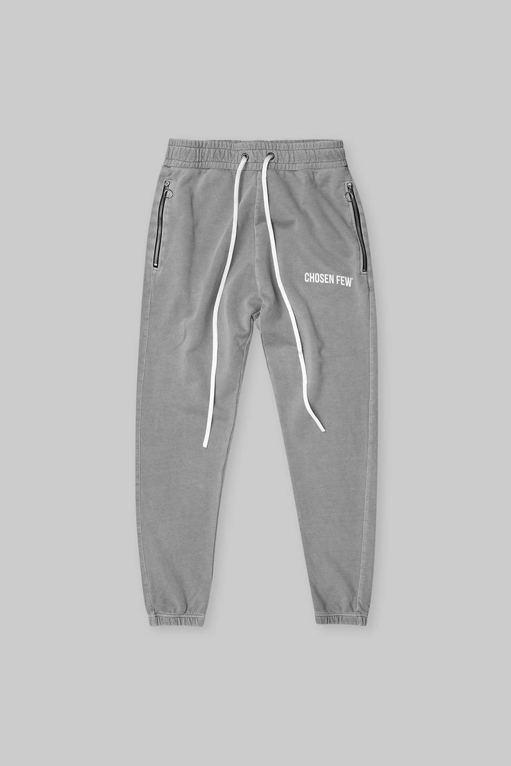 BRANDED TRACK PANT WASHED GREY