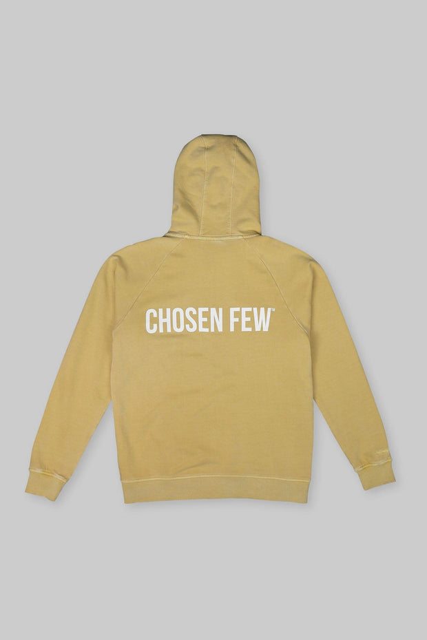 BRANDED ZIP HOODIE WASHED YELLOW