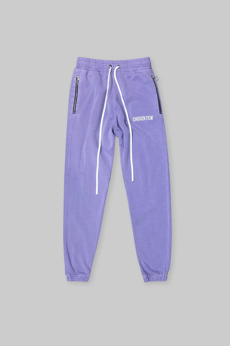 BRANDED TRACK PANT WASHED PURPLE