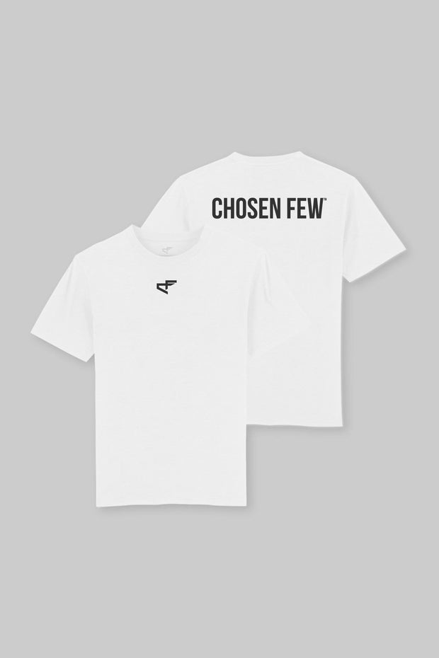 Branded Heavyweight Tee White & Black