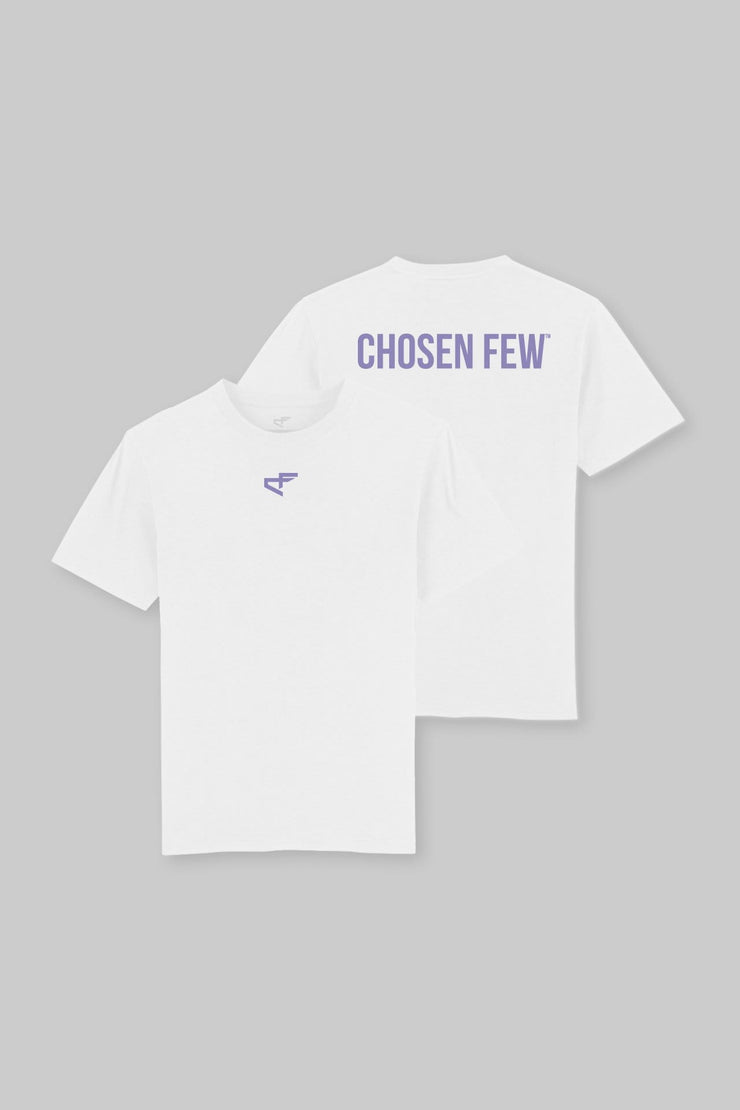Branded Heavyweight Tee White & Purple
