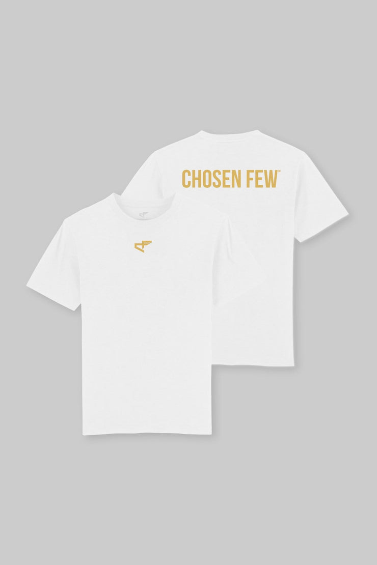 Branded Heavyweight Tee White & Yellow