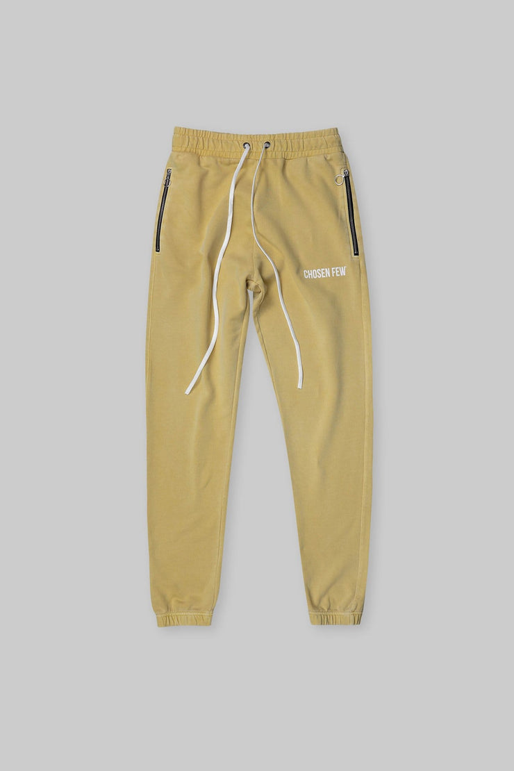 BRANDED TRACK PANT WASHED YELLOW