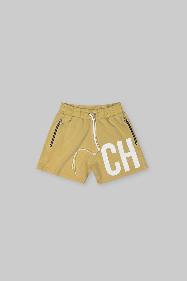 BRANDED SHORT WASHED YELLOW