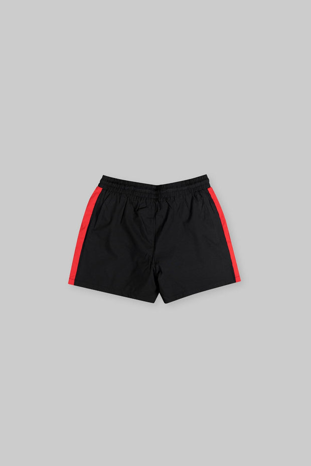 CAPO Panelled Shell Shorts Red
