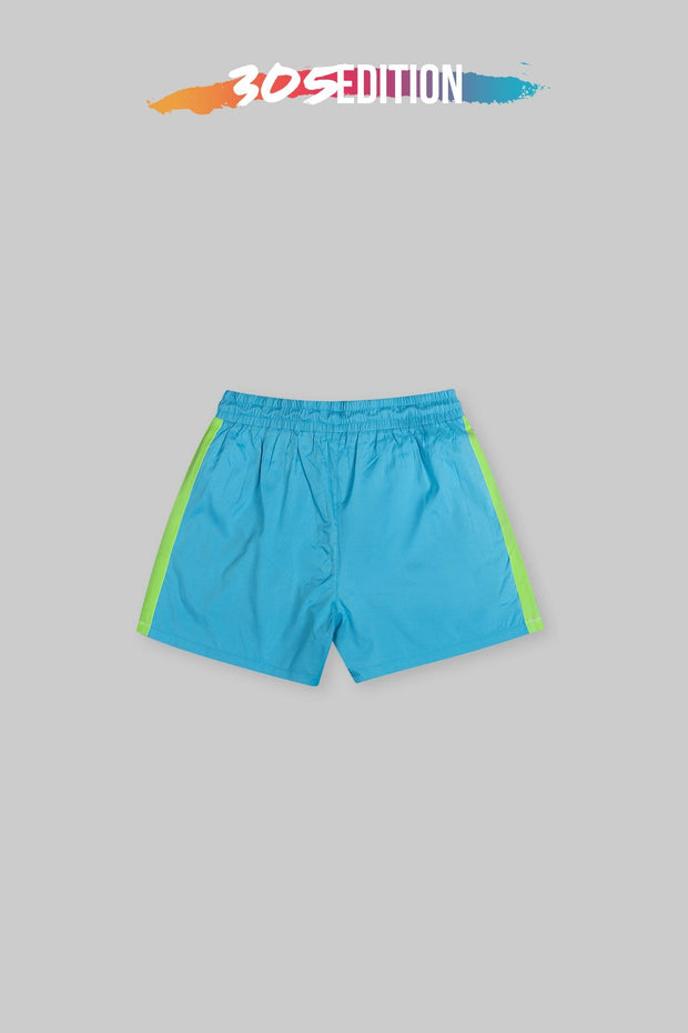 305 Edition - CAPO Panelled Shell Shorts Vice City